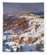 Winter Sunrise Bryce Canyon National Park Utah Fleece Blanket