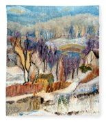 Winter Sunrise  Fleece Blanket