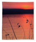 Winter Sunset I Fleece Blanket