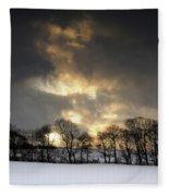 Winter Sunset, Trough Of Bowland, England Fleece Blanket