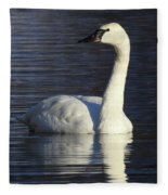 Winter Swan Fleece Blanket