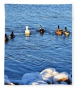 Winter Swim Fleece Blanket