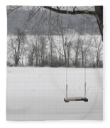 Winter Swing Fleece Blanket