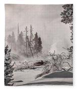 Winter Thermal Steam - Yellowstone Fleece Blanket
