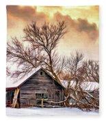 Winter Thoughts 2 - Paint Fleece Blanket