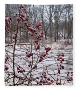 Winter Time Frozen Fruit Fleece Blanket