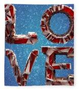 Winter Time Love Fleece Blanket
