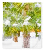 Winter Trees 1 Fleece Blanket