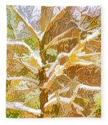 Winter Trees On Snow 2 Fleece Blanket