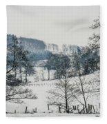 Winter Trees Solitude Landscape Fleece Blanket