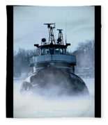 Winter Tug Fleece Blanket