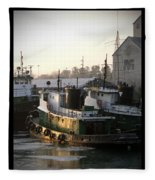 Winter Tugs Fleece Blanket
