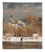 Winter View Of Allenstown Fleece Blanket