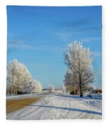 Winter In Saskatchewan Fleece Blanket