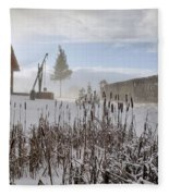 Winter Village Fleece Blanket