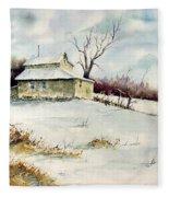 Winter Washday Fleece Blanket