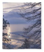 Winter Waterscape Fleece Blanket