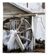 Winter Wheel Fleece Blanket