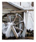 Winter Wheel Fleece Blanket