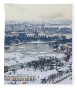 Winter Wonderland In Stockholm Fleece Blanket