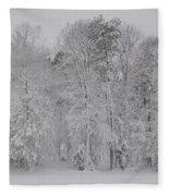 Winter Woods Fleece Blanket
