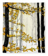 Winter Woods Fleece Blanket