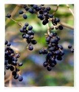 Winterberries I Fleece Blanket