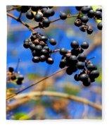 Winterberries II Fleece Blanket