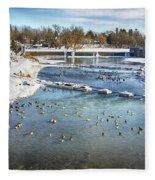 Wintering Geese Fleece Blanket