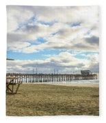 Winters Beach Fleece Blanket