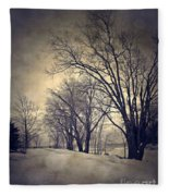 Winter's Dark Thoughts Fleece Blanket