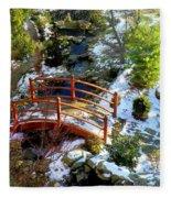 Winter's Goodbye Fleece Blanket