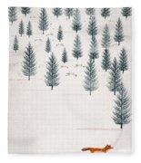 Winters Tale Fleece Blanket by Bri Buckley