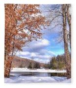 Winters Window Fleece Blanket
