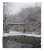 Wintertime In The Wissahickon Valley Fleece Blanket