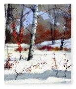 Wintertime Painting Fleece Blanket