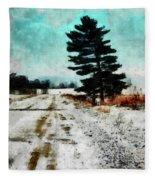 Wintry Altona Road Fleece Blanket