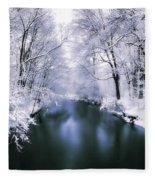Wintry White Fleece Blanket