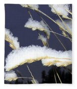 Wintry Wild Oats Fleece Blanket