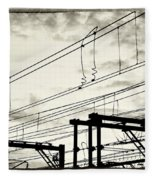 Wires And Coils Silhouette Fleece Blanket