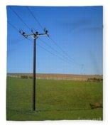 Wires Fleece Blanket