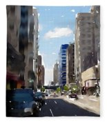 Wisconsin Ave 2 Fleece Blanket