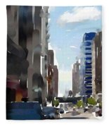 Wisconsin Ave 3 Fleece Blanket