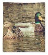 Wisconsin Ducks Fleece Blanket