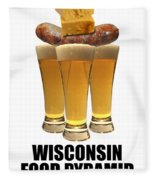Wisconsin Food Pyramid Fleece Blanket