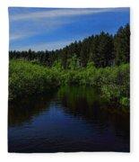 Wisconsin River In Vilas County Fleece Blanket