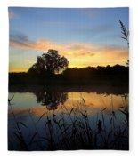 Wisconsin Sunrise Fleece Blanket