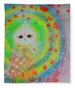 Wisdom Of  The Owl  Fleece Blanket