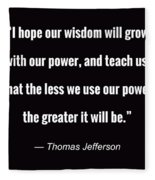 Wisdom Will Grow Fleece Blanket