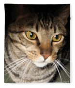 Wise Cat Fleece Blanket